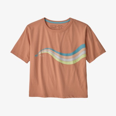 Patagonia Women's Psychedelic Slider Organic Cotton Easy-Cut Tee