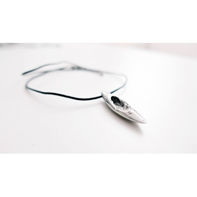 Whitewater steel necklace